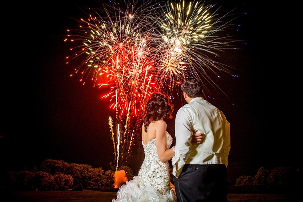 Oheka fireworks wedding photograph