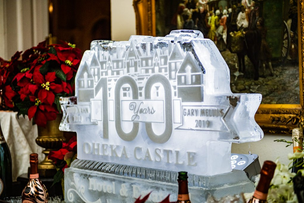 Oheka Castle 100 years ice sculpture