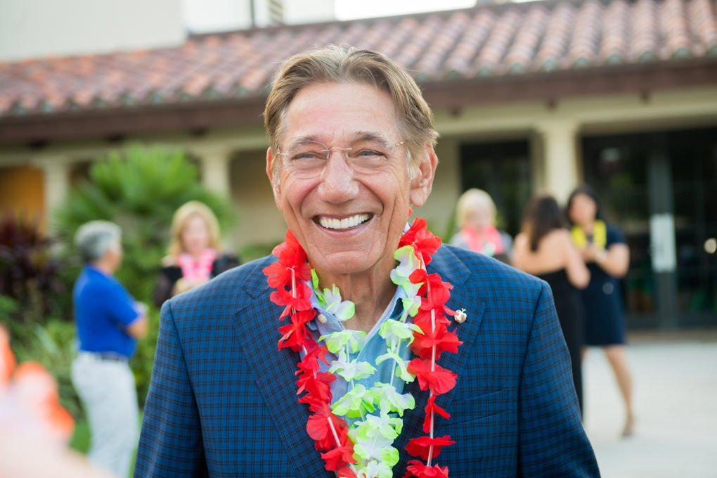 Joe Namath smiling at the pool party