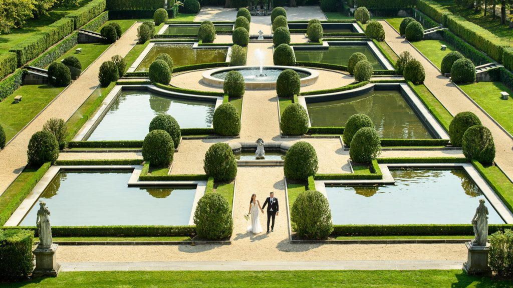 Oheka Garden Wedding Photo