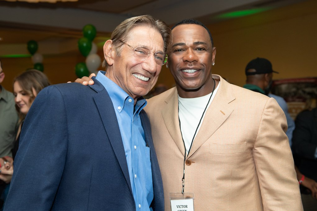 John Namath and Victor Green photo