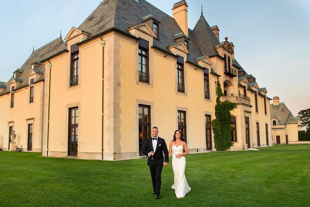 Oheka Castle bride and groom wedding photo