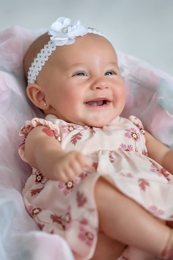 Newborn smiling
