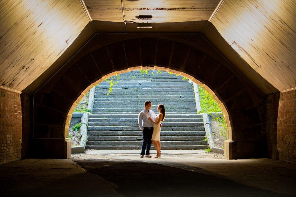 Central park engagement photographers