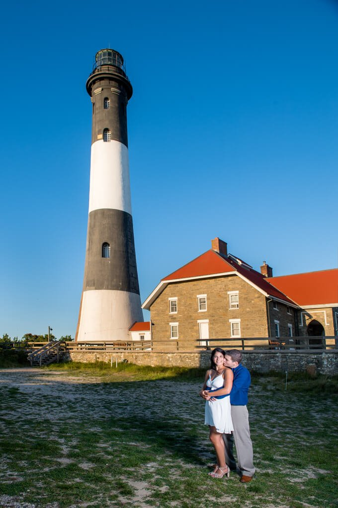 Engagement session fire Island lighthouse