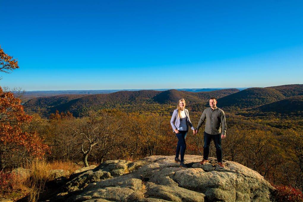 Bear Mountain New York engagement photographers