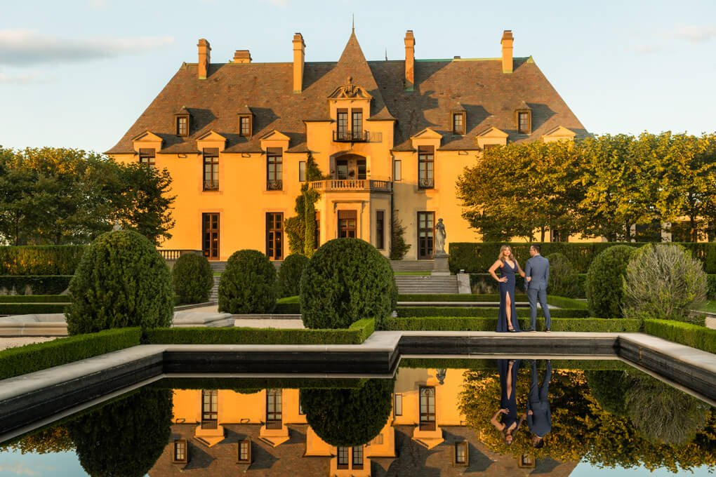 Oheka castle engagement photographer