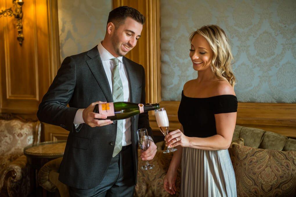 Champagne toast celebration