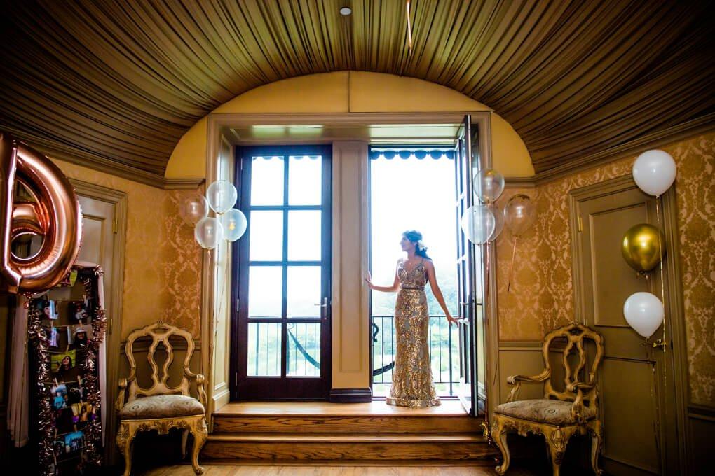Bridal suite at Oheka Castle