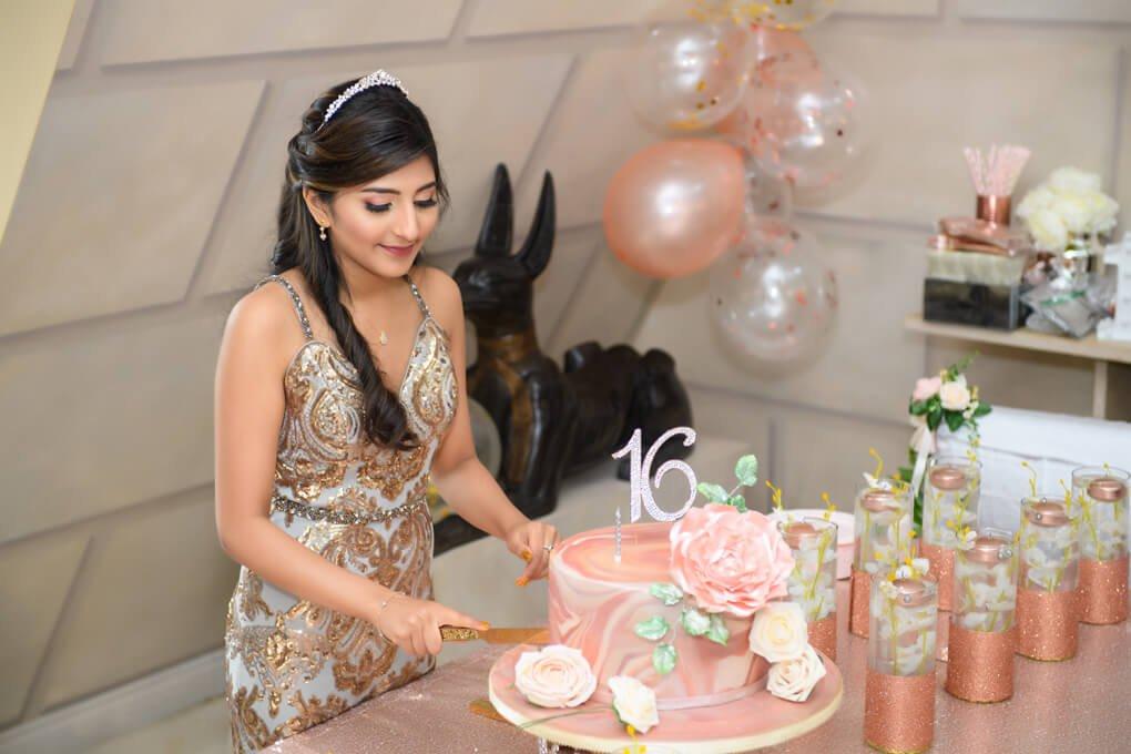Oheka sweet 16 cake cutting