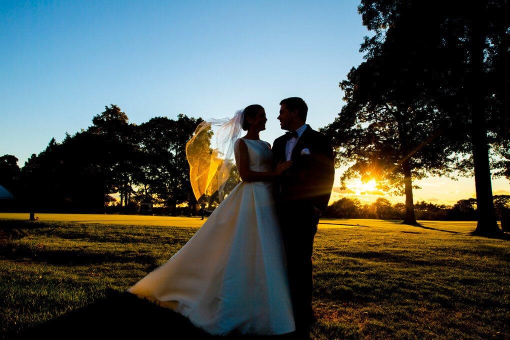 The Heritage Club wedding sunset