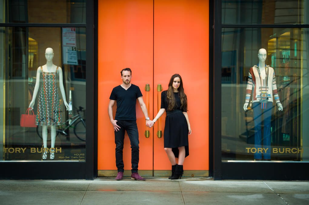 Engagement session in meat packing district
