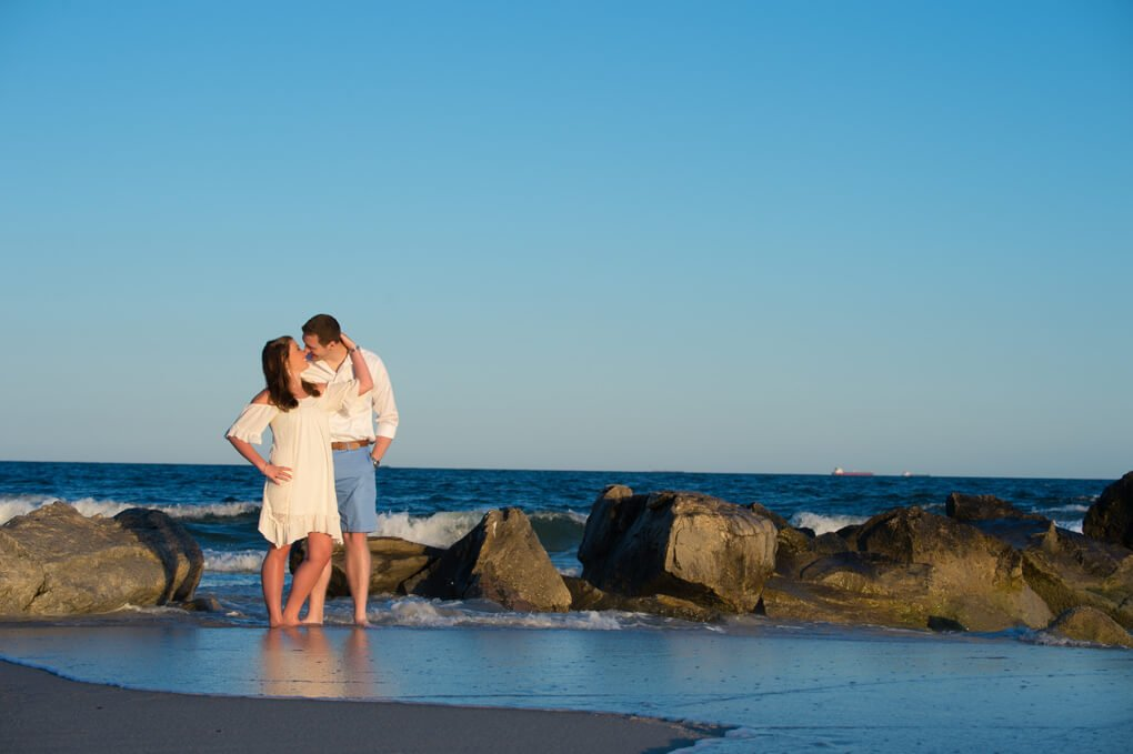 Engaged couple in Long Beach NY